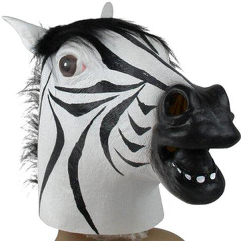 Halloween Party Cospaly Zebra Head Mask Prop - WHITE