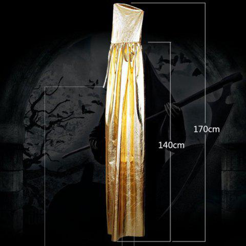 Halloween Death Cospaly Death Hooded Cloak Costume - GOLDEN