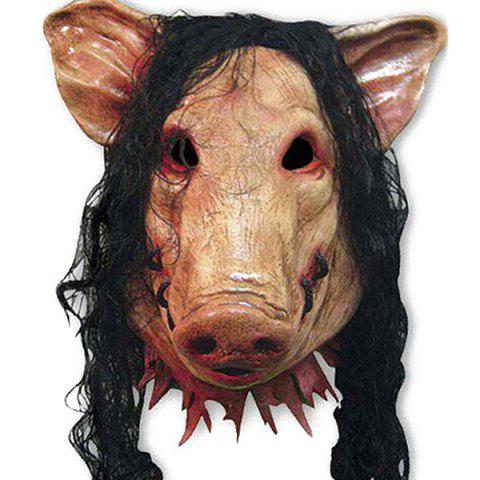 Halloween Party Pig Head Animal Cospaly Prop Mask - COMPLEXION