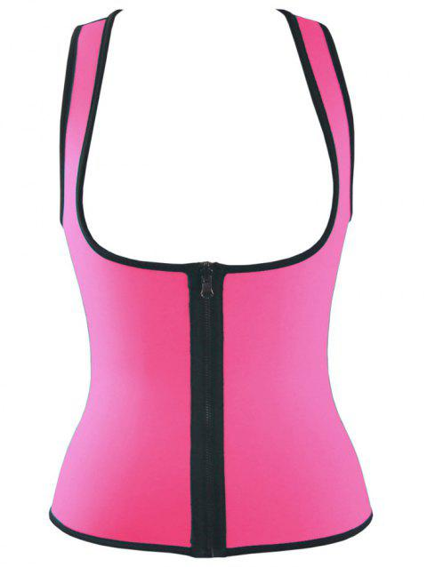Double Side Sports Skinny Tank Top - ROSE RED M