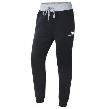 Color Splicing Narrow Feet Lace-Up Jogger Pants
