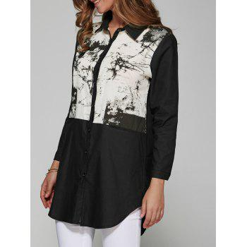 Ink Painting Spliced Loose Shirt