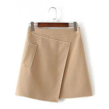 Applique Hidden Zipped Tweed Skirt