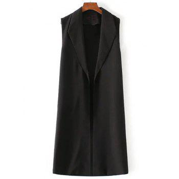 Open Front Long Suit Vest