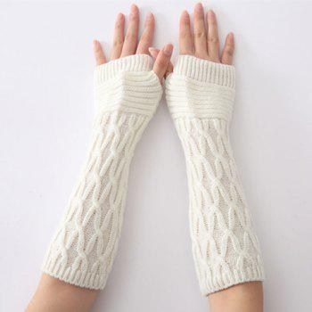 Christmas Criss-Cross Crochet Knit Arm Warmers