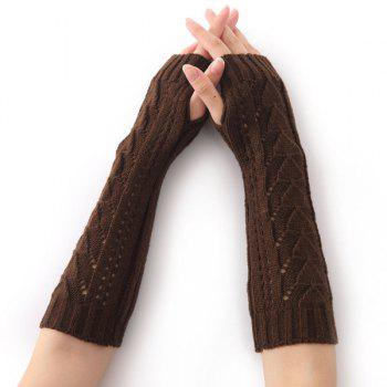 Christmas Triangle Hollow Out Crochet Knit Arm Warmers