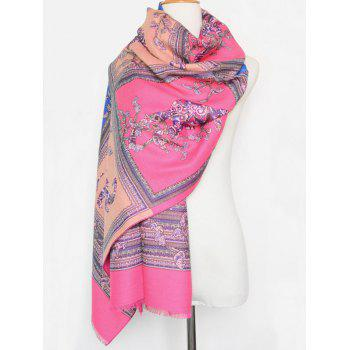 Nepal Ethnic Style Animal Print Fringed Scarf