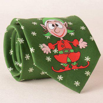 Carnival Clown and Snowflake Print Christmas Tie