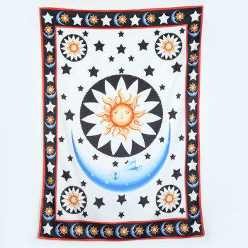 Rectangle Moon Star Printed Beach Throw