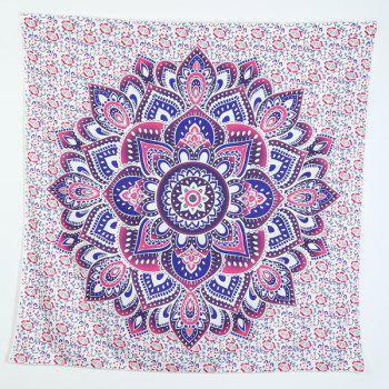Gradient Lotus Flower Print Square Beach Throw