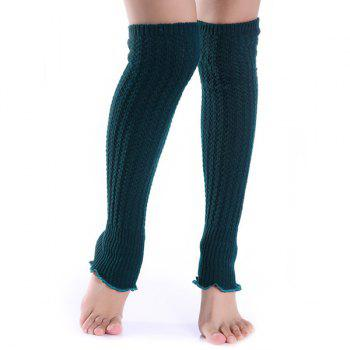 Christmas Small Hemp Flowers Knit Leg Warmers