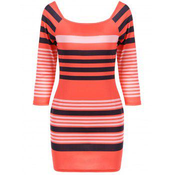 Autumn Stripe Bodycon Dress