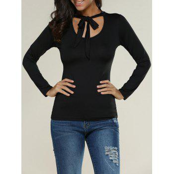 Self-Tie Stretchy Slimming T-Shirt