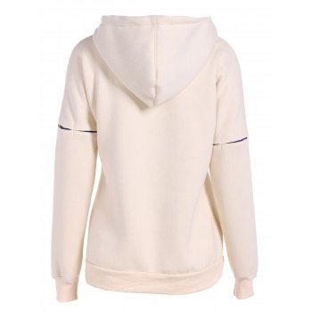 Split Kangaroo Pocket Hoodie - LIGHT YELLOW L