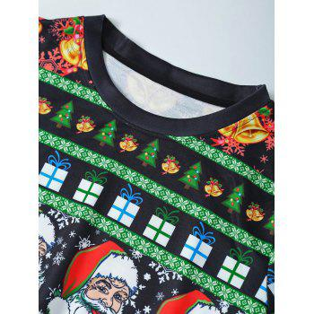 Father Christmas Print Loose Fit Sweatshirt - CADETBLUE M