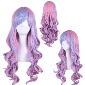 Long Side Bang Wavy Colored Cosplay Synthetic Wig