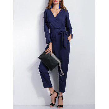 High Waist Tied-Up Surplice Jumpsuit