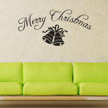 Window Glass Merry Christmas Bells Removeable Wall Sticker
