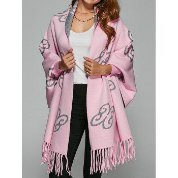 Auspicious Clouds Jacquard Fringed Cape Cardigan