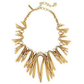 Alloy Plated Statement Choker Necklace