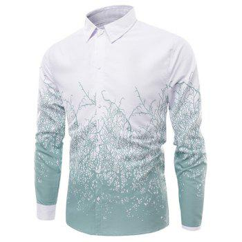 Turn-Down Collar Long Sleeve Timbo Print Shirt