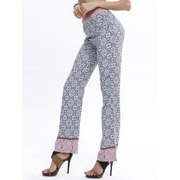 Casual Straight Leg Printed Vintage Pants