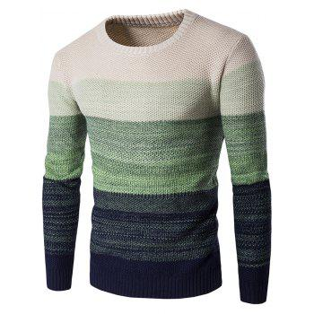 Gradient Color Crew Neck Sweater