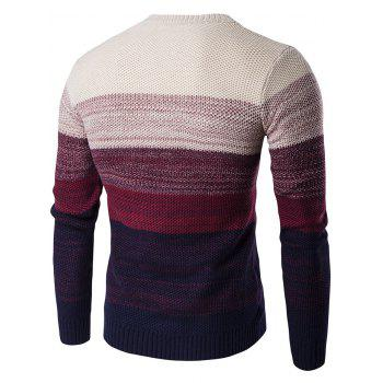 Gradient Color Crew Neck Sweater - M M