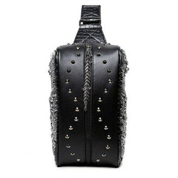 Rivet Dragon 3D Embossed Crossbody Bag