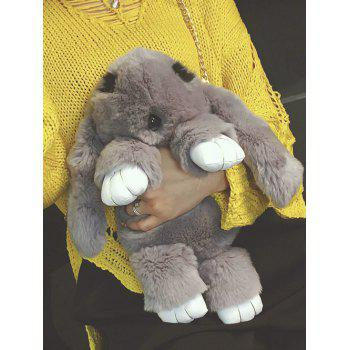Plush Toy Rabbit Chains Bag -  GRAY