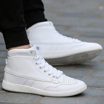 PU Leather High Top Sneakers