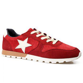 Star Pattern Suede Athletic Shoes