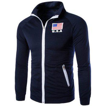 National Flag Pattern Zip Up Jacket