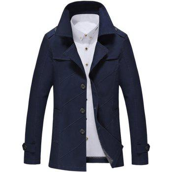 Turn-Down Collar Long Sleeve Single Breasted Jacket