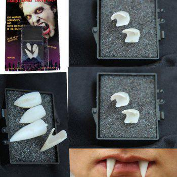 Halloween Party Vampire Denture 4PCS Teeth Prop Decoration - WHITE WHITE