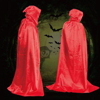 Fancy Dress Halloween Wizard Cospaly Hooded Cloak - RED RED