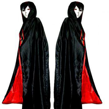 Halloween Cospaly Costume AB Wear Death Hoody Cloak - RED WITH BLACK RED/BLACK