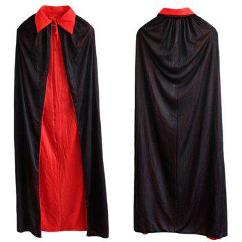 Halloween Cospaly Costume AB Wear Death Cloak - RED WITH BLACK RED/BLACK