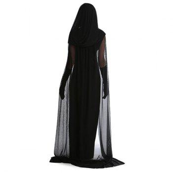 Halloween Cospaly Party Witch Cloak Hooded Costume Set - XL XL