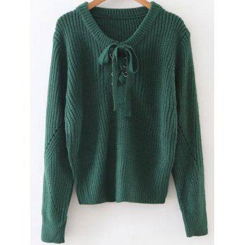 Grommet Lace-Up Jumper