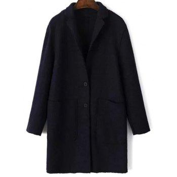 Two Pockets Wool Blend Coat With Pocket