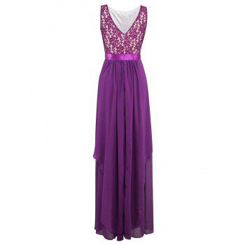 Chiffon Layered Long Bridesmaid Wedding Party Dress