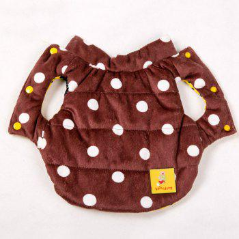 Winter Warm Polka Dot Waistcoat Jacket Clothes - L L