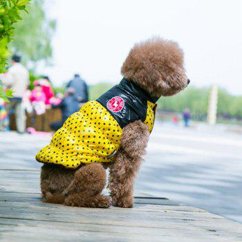 Winter Warm Polka Dot Waistcoat Jacket Clothes - YELLOW L
