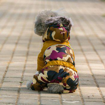 Camouflage Jumpsuit Pet Dog Hoodies Jacket Clothes