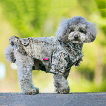 Winter Warm Pet Dog Jeans Jacket Clothes