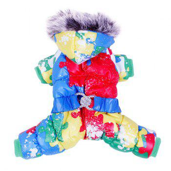 Colorful Warm Pet Dog Hoodies Jacket Clothes - XS XS