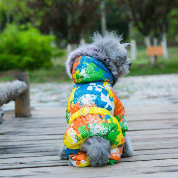 Colorful Warm Pet Dog Hoodies Jacket Clothes - YELLOW YELLOW