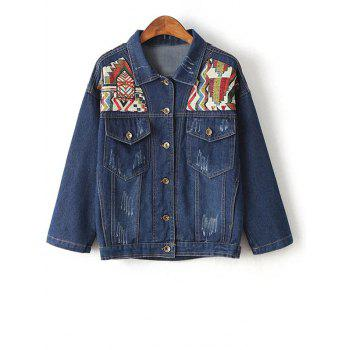 Embroidered Yoke Jeans Jacket