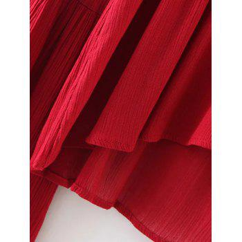 V Neck manches cloche Flowy Haut - Rouge ONE SIZE